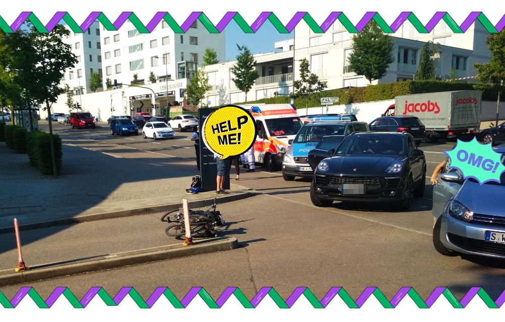 Unfall an der Stresemann-Straße