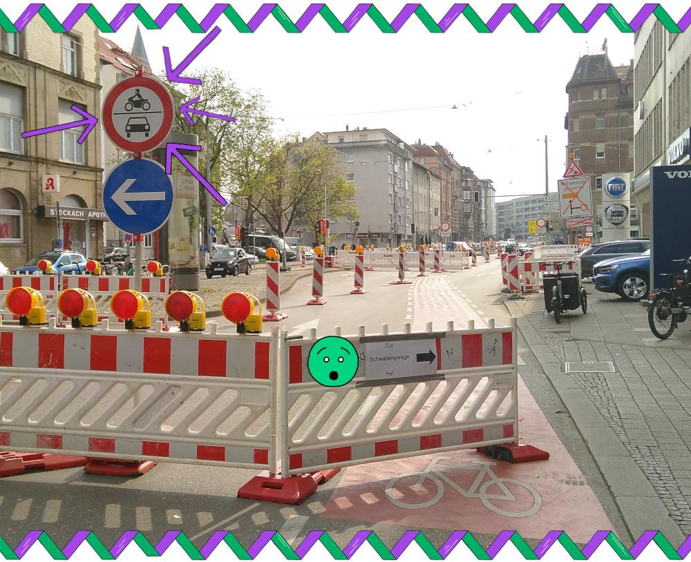 Fahrräder dürfen hier vielleicht fahren