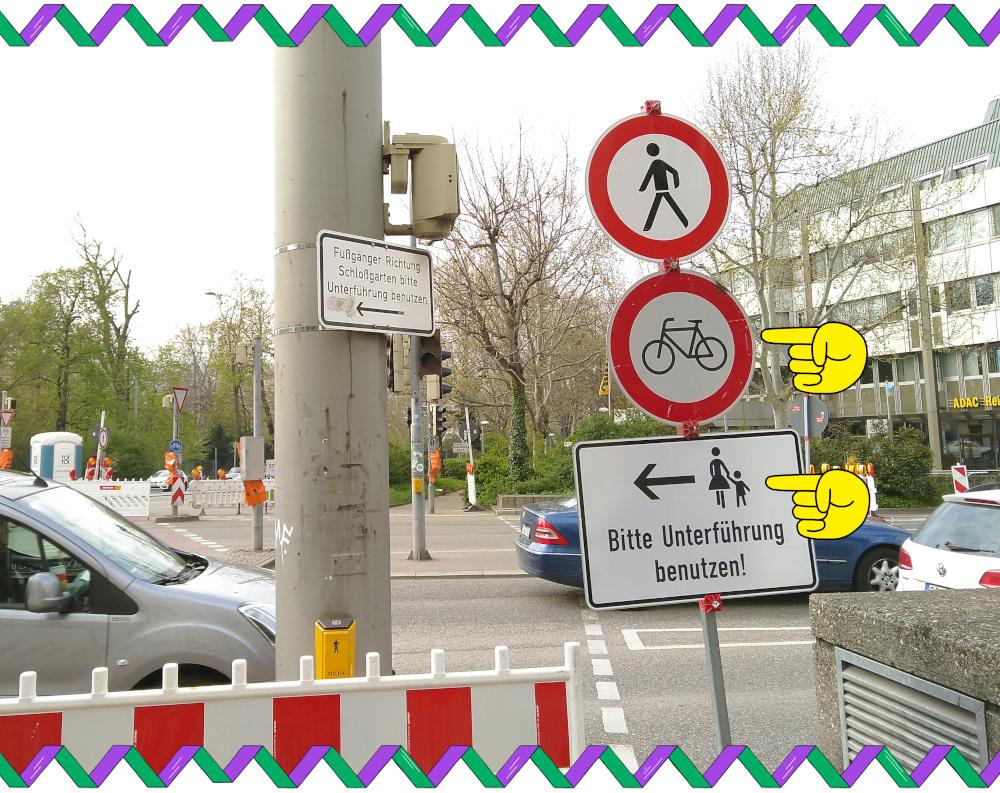 Keine Umleitung für Fahrräder