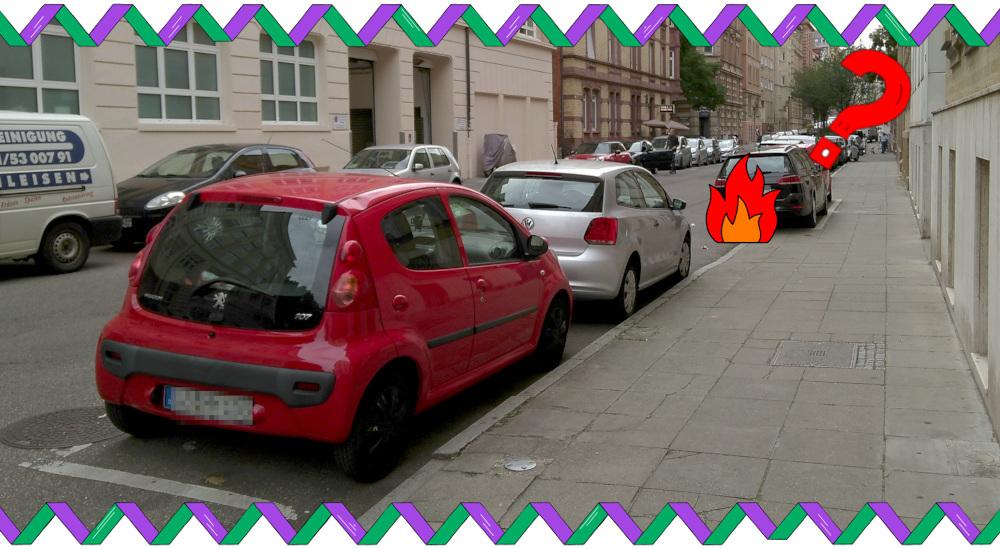 offizielle Gehwegparkplätze