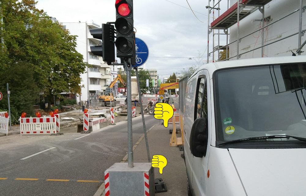 Baustelle Birkenwaldstraße