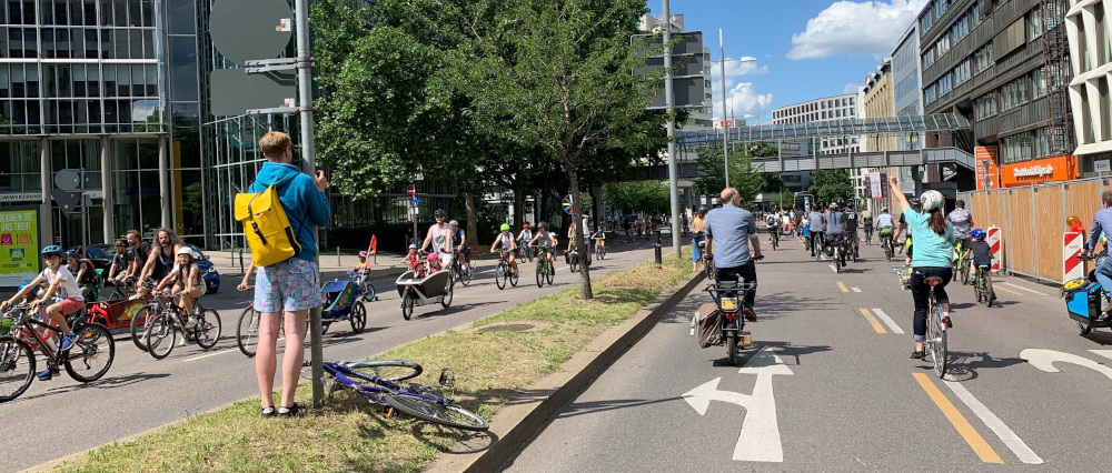 Impression der Kidical Mass im August 2020