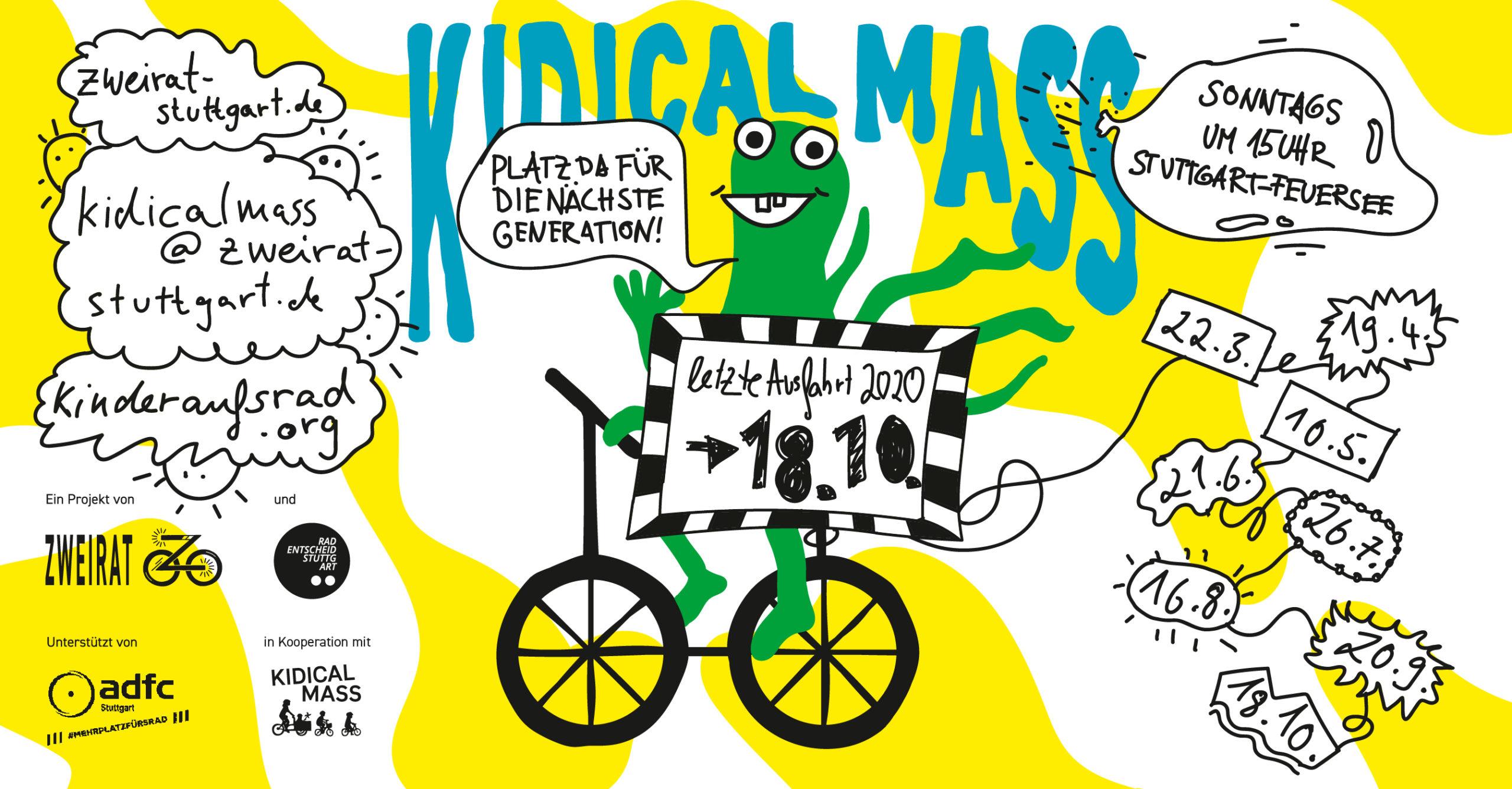 Flyer Kidical Mass Oktober 2020